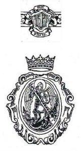 Detalles de la heráldica utilizada por el Tribunal para la Represión de la Masonería y el Comunismo.