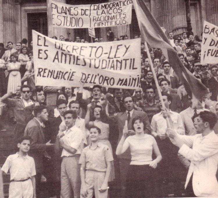 Argentina 1959, Manifestación laica