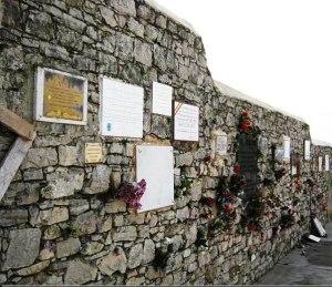 Paredón donde fueron fusilados masones Gijón. Cementerio de El Suco.