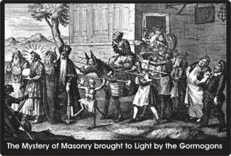Caricatura en grabado de una procesión de los Gormogones