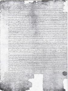 Copia del Testamento del Duque de Wharton