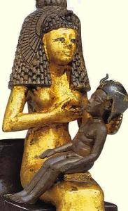 Isis Diosa Madre con Horus