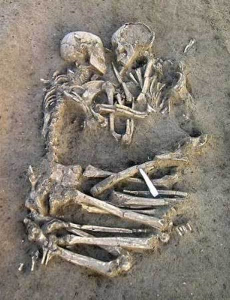 Abrazo neolítico